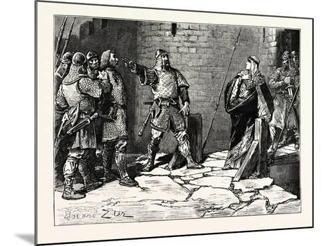 Surrender of Bamborough Castle--Mounted Giclee Print