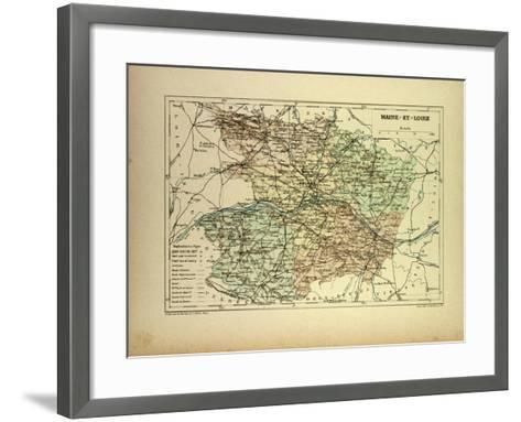Map of Maine-Et-Loire France--Framed Art Print