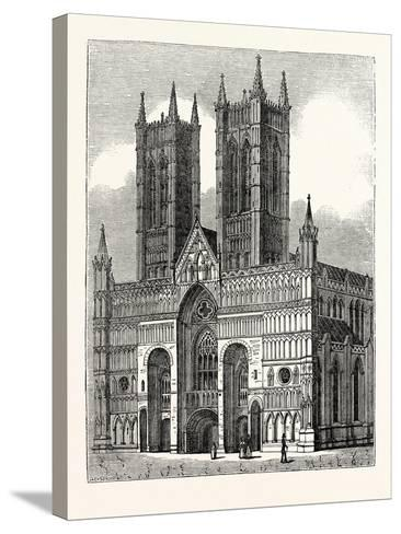 West Front of Lincoln Cathedral--Stretched Canvas Print