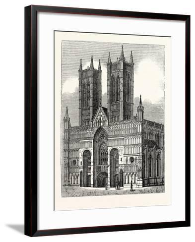 West Front of Lincoln Cathedral--Framed Art Print