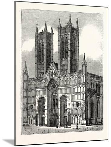 West Front of Lincoln Cathedral--Mounted Giclee Print