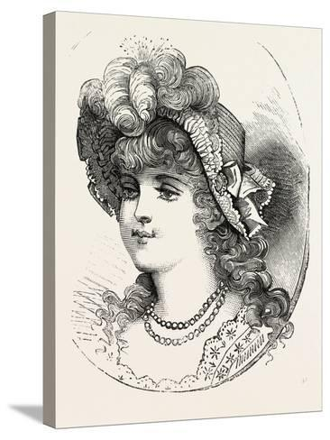 Girl's Straw Hat, 1882, Fashion--Stretched Canvas Print