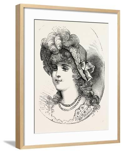 Girl's Straw Hat, 1882, Fashion--Framed Art Print