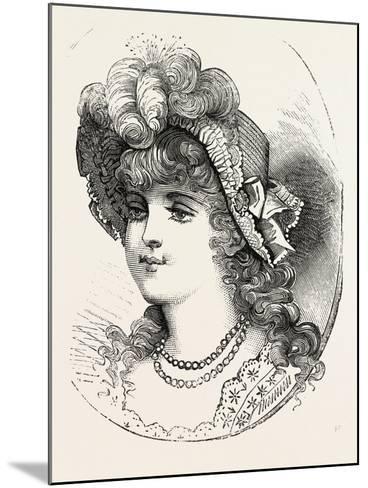 Girl's Straw Hat, 1882, Fashion--Mounted Giclee Print