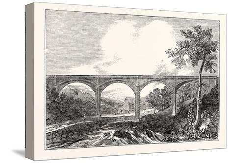 View of Dean Bridge Edinburgh--Stretched Canvas Print