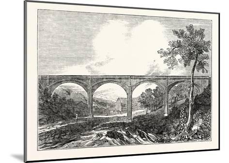 View of Dean Bridge Edinburgh--Mounted Giclee Print