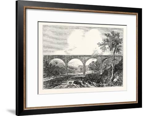 View of Dean Bridge Edinburgh--Framed Art Print
