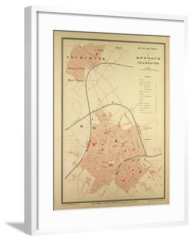 Map of Roubaix and Tourcoing--Framed Art Print