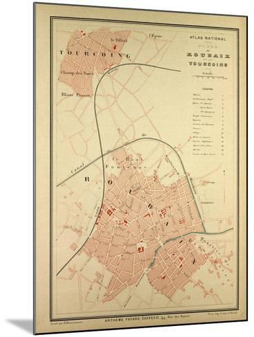 Map of Roubaix and Tourcoing--Mounted Giclee Print