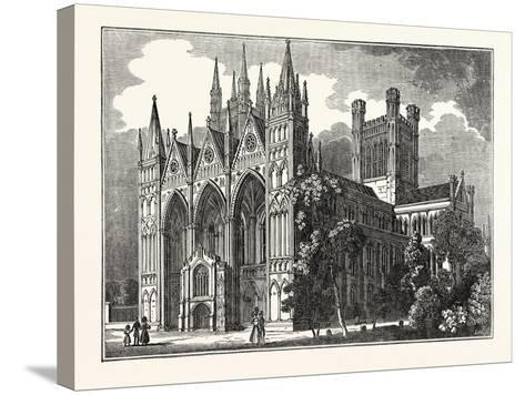 Peterborough Cathedral, Uk--Stretched Canvas Print