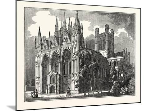Peterborough Cathedral, Uk--Mounted Giclee Print