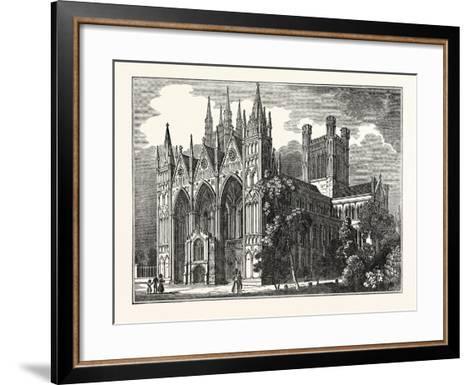 Peterborough Cathedral, Uk--Framed Art Print