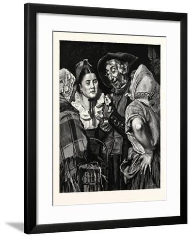 The Old Man's Treasure, a Kitten--Framed Art Print