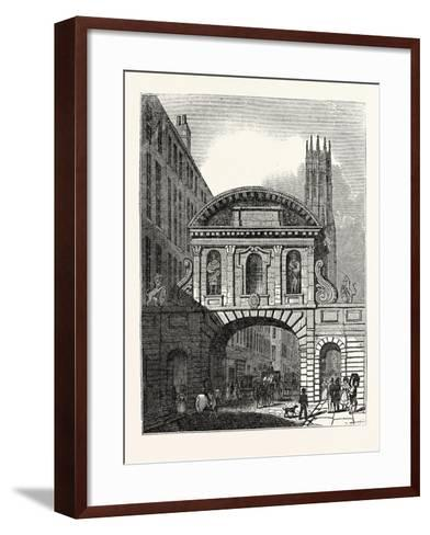 West Front of Temple Bar London--Framed Art Print