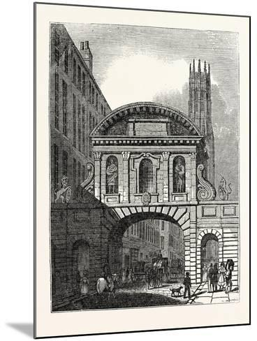 West Front of Temple Bar London--Mounted Giclee Print
