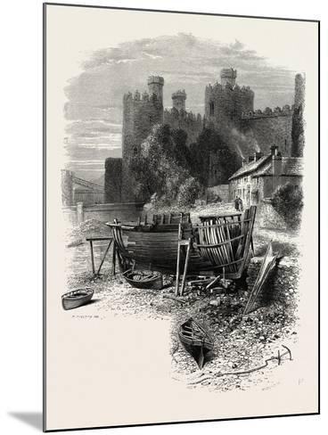 North Wales: Conway Castle, UK--Mounted Giclee Print