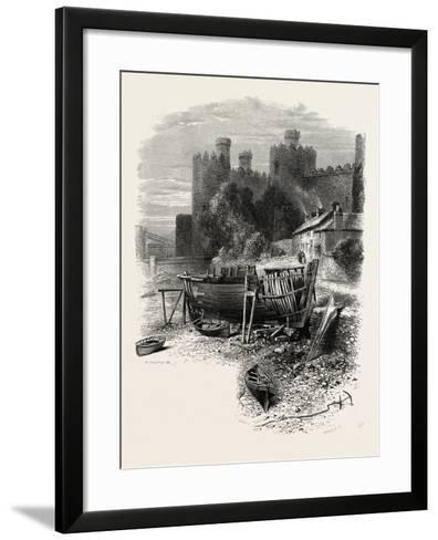 North Wales: Conway Castle, UK--Framed Art Print