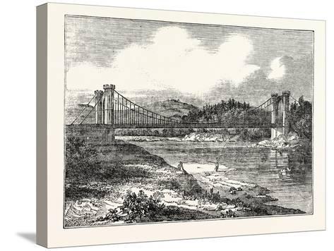 Findhorn Suspension Bridge--Stretched Canvas Print