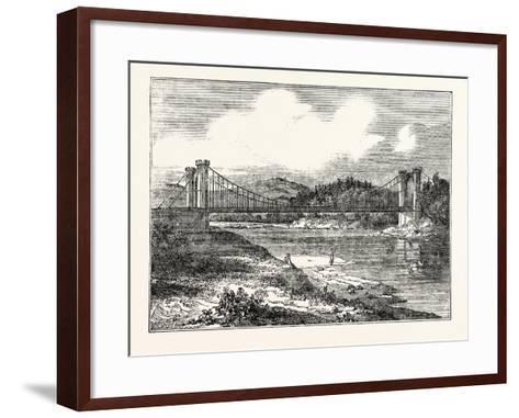Findhorn Suspension Bridge--Framed Art Print