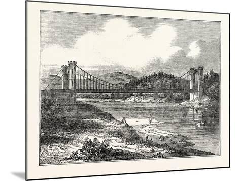Findhorn Suspension Bridge--Mounted Giclee Print