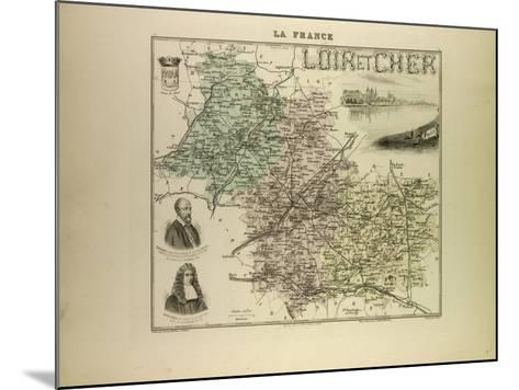Map of Loir and Cher 1896, France--Mounted Giclee Print