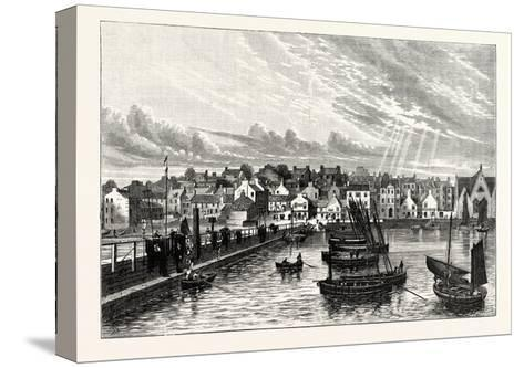Edinburgh: Newhaven from the Pier--Stretched Canvas Print
