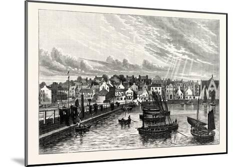 Edinburgh: Newhaven from the Pier--Mounted Giclee Print