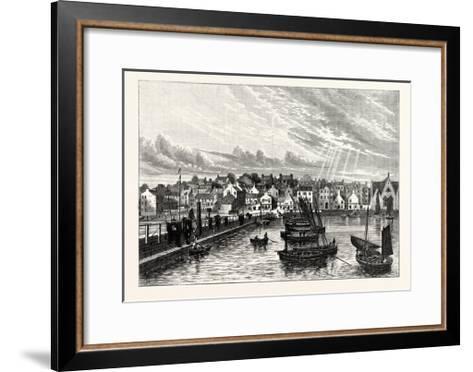 Edinburgh: Newhaven from the Pier--Framed Art Print