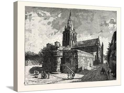 The Church of Notre Dame Calais--Stretched Canvas Print