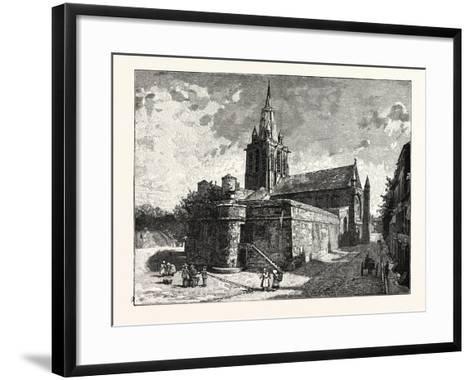 The Church of Notre Dame Calais--Framed Art Print