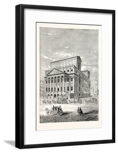 The Mansion House in 1750, London--Framed Art Print