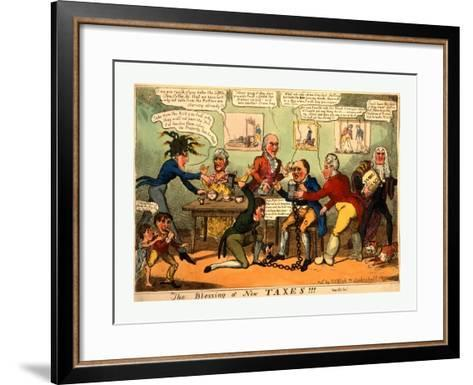 The Blessing of New Taxes!!!--Framed Art Print