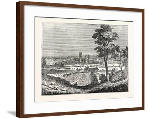 Canterbury from the Railway--Framed Art Print