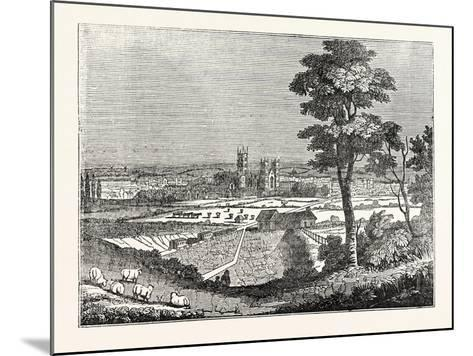 Canterbury from the Railway--Mounted Giclee Print
