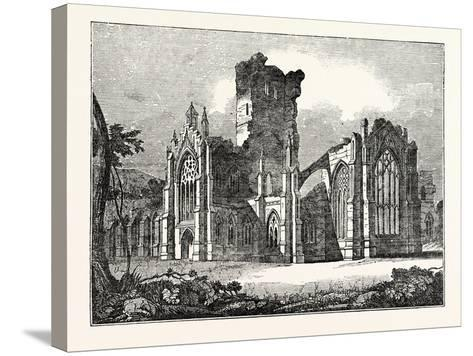 South-East View of Melrose Abbey--Stretched Canvas Print