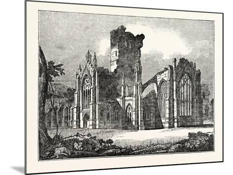 South-East View of Melrose Abbey--Mounted Giclee Print