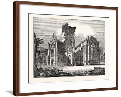 South-East View of Melrose Abbey--Framed Art Print