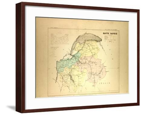 Map of Haute Savoie, France--Framed Art Print