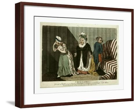 Crime, Con, Get Out of My House,--Framed Art Print