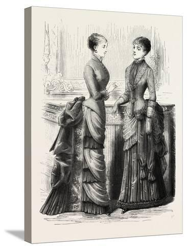 Indoor Toilettes, Fashion, 1882--Stretched Canvas Print