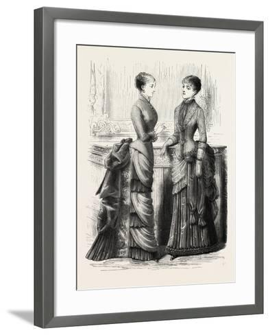 Indoor Toilettes, Fashion, 1882--Framed Art Print