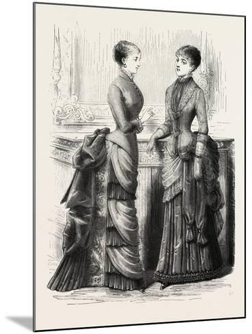 Indoor Toilettes, Fashion, 1882--Mounted Giclee Print