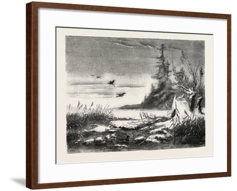 Ambush for Duck Shooting, 1882--Framed Art Print