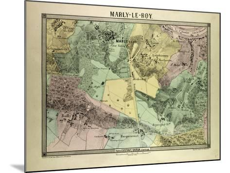 Map of Marly-Le-Roy, France--Mounted Giclee Print