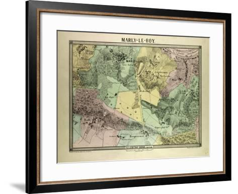 Map of Marly-Le-Roy, France--Framed Art Print