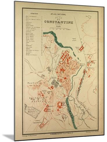 Map of Constantine, France--Mounted Giclee Print