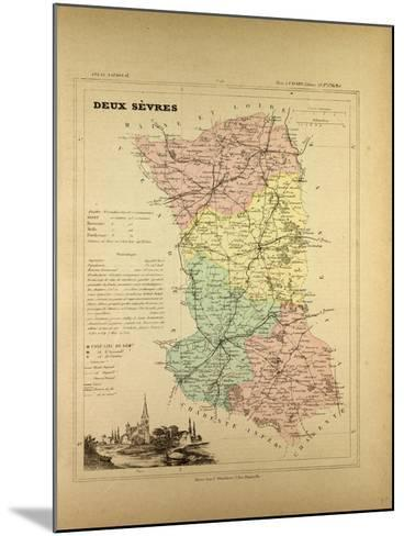 Map of Deux Sèvres, France--Mounted Giclee Print