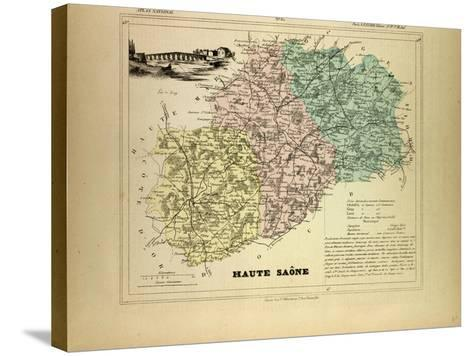Map of Haute Saône, France--Stretched Canvas Print