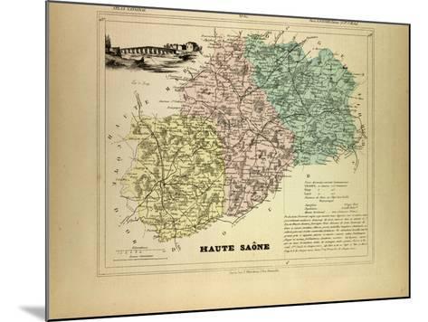 Map of Haute Saône, France--Mounted Giclee Print