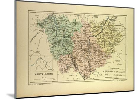 Map of Haute-Loire, France--Mounted Giclee Print
